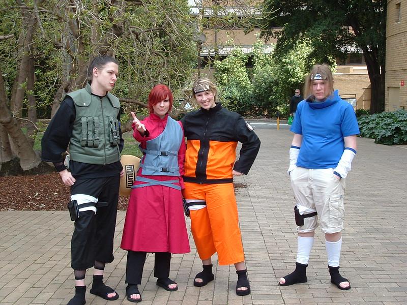 Shikamaru, Gaara, Naruto, Sasuke