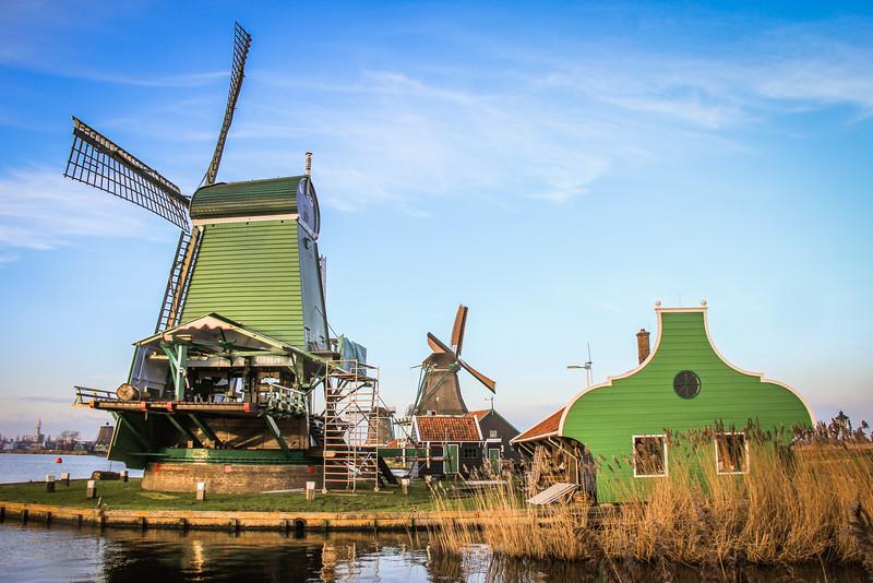 Multi-function mills at Zaanse Schans