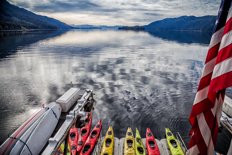 kayaking in Glacier Bay National Park in Alaska