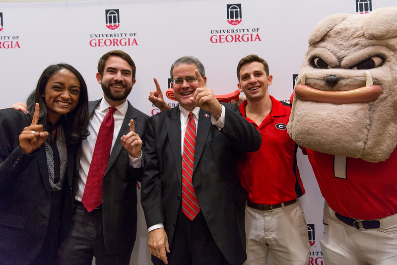 Description: Capital Campaign Campus KickoffDate of Photo: 11/10/2016Credit: Andrew Davis Tucker, University of GeorgiaPhotographic Services File: 34401-078The University of Georgia owns the rights to this image or has permission to redistribute this image. Permission to use this image is granted for internal UGA publications and promotions and for a one-time use for news purposes. Separate permission and payment of a fee is required to use any image for any other purpose, including but not limited to, commercial, advertising or illustrative purposes. Unauthorized use of any of these copyrighted photographs is unlawful and may subject the user to civil and criminal penalties. Possession of this image signifies agreement to all the terms described above.