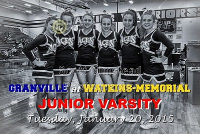 2015 Granville at Watkins-Memorial (01-20-15) Junior Varsity
