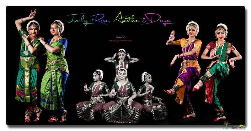 Jimly, Risa, Aastha & Divya's Pre-Arangetram Portraits 2021
