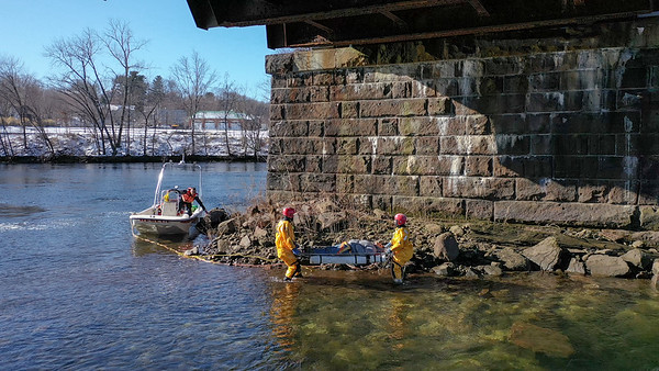 Housatonic River Water Rescue (Derby, CT) 1/20/20
