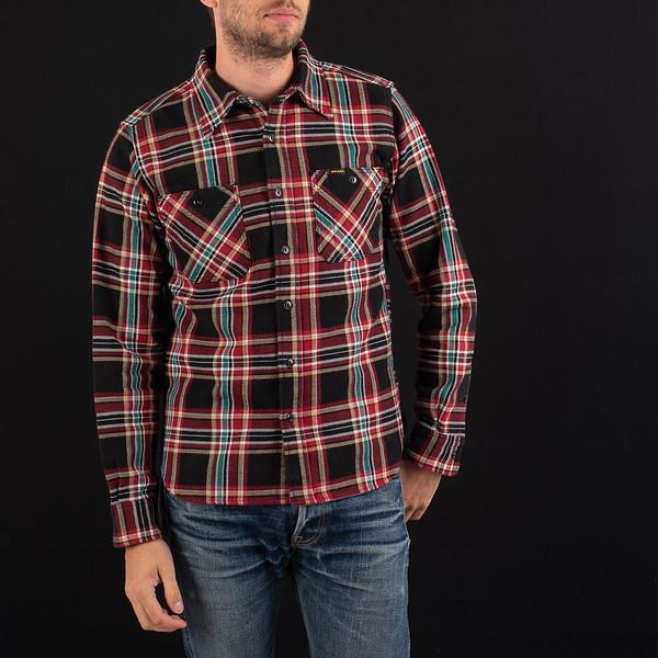 Black Crazy Check Ultra Heavy Flannel Work Shirt-3933.jpg