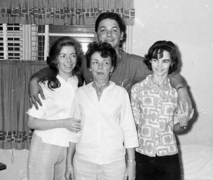 George David Burgin in back Carol Ann Burgin, Bertha Marshall Burgin, Cherry Lynn Hynes in front 1966
