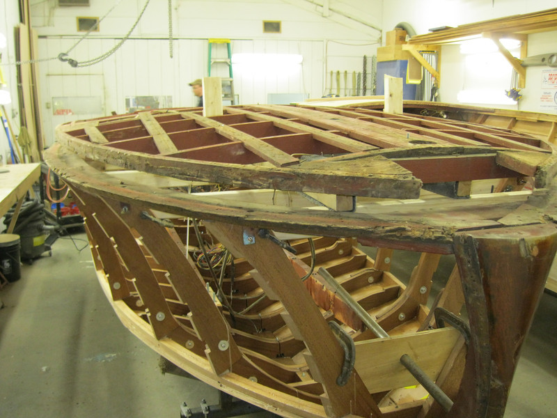 Front port starboard view of deck removed from bad top plate.