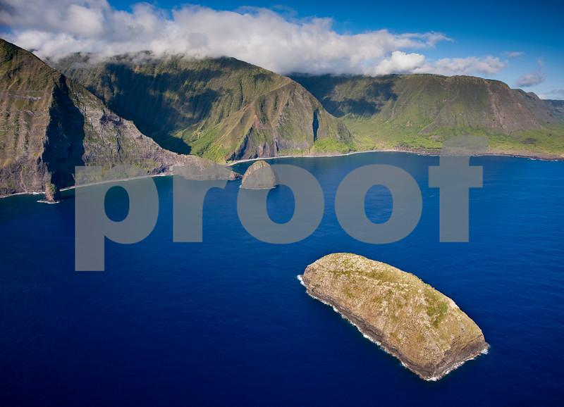 The Mokapu Islet off shore Molokai.