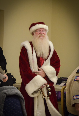 Scouts with Santa