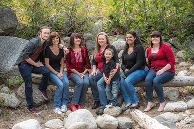 Lacey family sitting Little Cottonwood Canyon