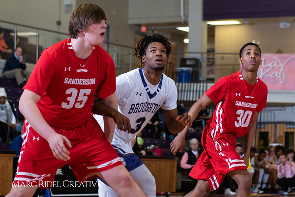 Broughton boys varsity basketball vs Sanderson. Play 4 Kay. January 17, 2019. 750_4744