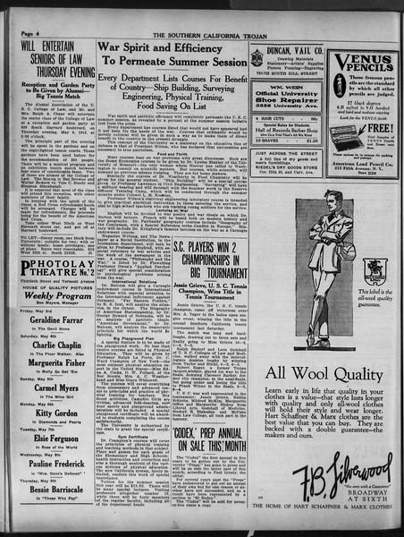 The Southern California Trojan, Vol. 9, No. 43, May 03, 1918