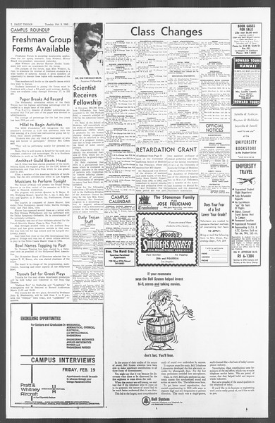 Daily Trojan, Vol. 56, No. 59, February 09, 1965