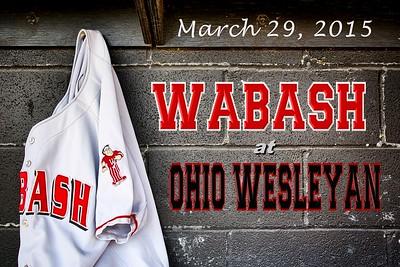 2015 Wabash at Ohio Wesleyan (03-29-15)