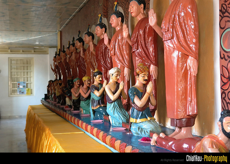 These are other Buddha status that are in this temple. There are label under each of them.