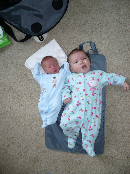 Leela meets Jack. Can you believe they are only 8 weeks apart?
