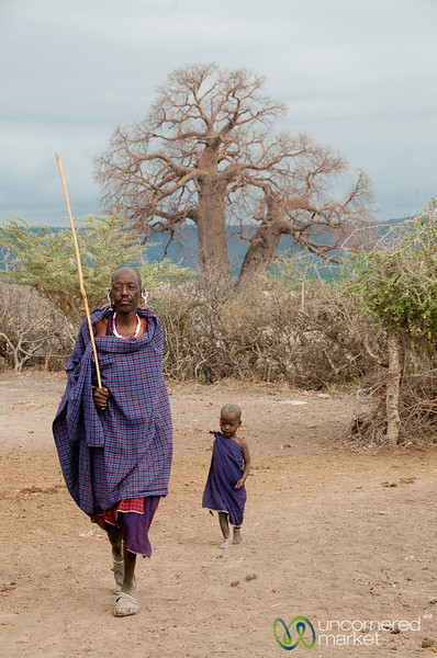 Masai Man and Child - Lake Manyara, Tanzania