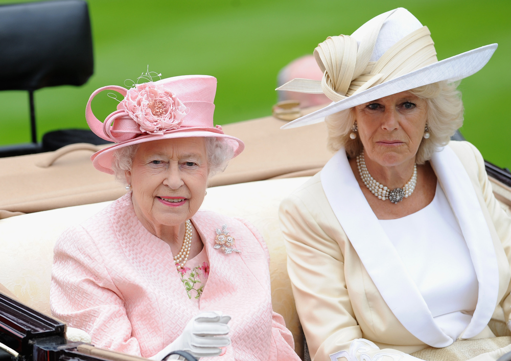 . Queen Elizabeth II & Camilla, Duchess Of Cornwall attends day one of Royal Ascot at Ascot Racecourse on June 18, 2013 in Ascot, England.  (Photo by Stuart C. Wilson/Getty Images for Ascot Racecourse)