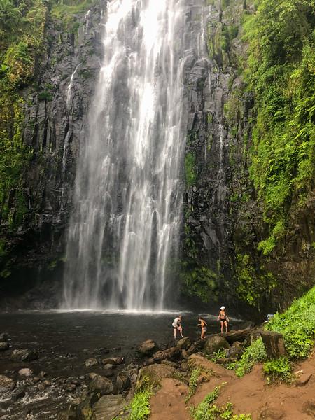 Swimming in Materuni Waterfall