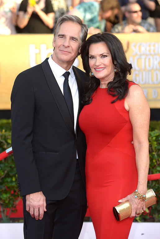 . Scott Bakula and guest arrives at the 20th Annual Screen Actors Guild Awards  at the Shrine Auditorium in Los Angeles, California on Saturday January 18, 2014 (Photo by Michael Owen Baker / Los Angeles Daily News)