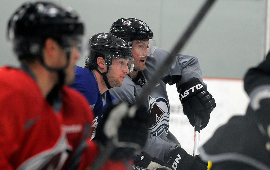 . Colorado Avalanche Melan Hejduk (23) runs through drills  as the Avalanche return to the ice Sunday, January 13, 2013 at Family Sports Center to start the 2013 training camp.  John Leyba, The Denver Post