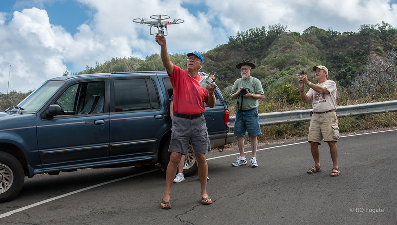 Catching the quad copter on return