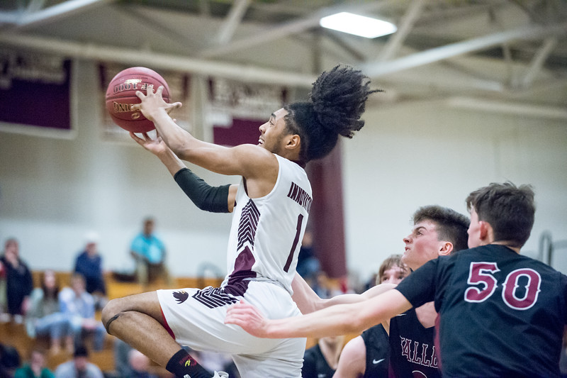 03/13/19  Wesley Bunnell | Staff  Innovation basketball defeated Valley Regional on Wednesday night to advance to the Class V CIAC Championship game this Sunday at the Mohegan Sun Casino. Armani Alonso (1)