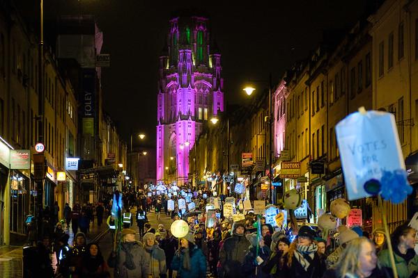 Suffragette Lantern March