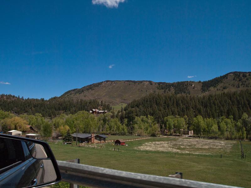 5/25 - The view along CO Road 240, NE of Durango