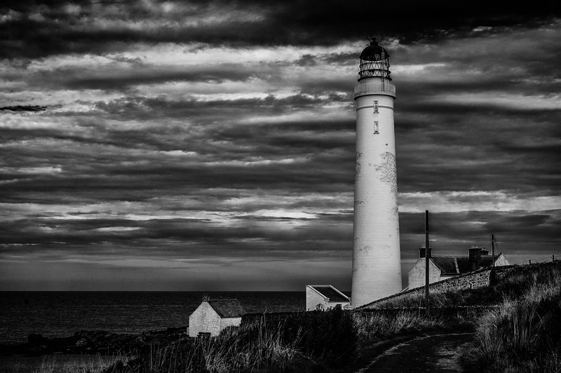 Clouds Over Scurdie Ness Lighthouse