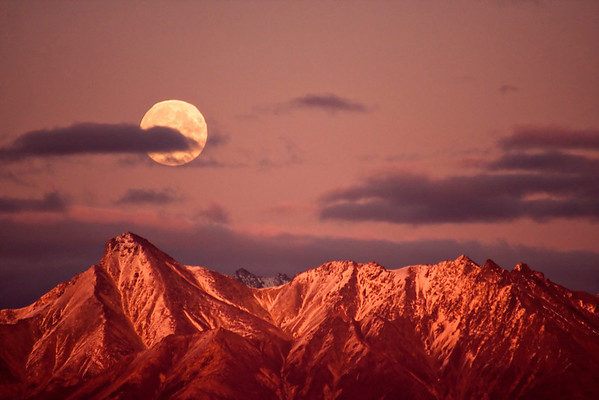 Moonrise Over Matanuska