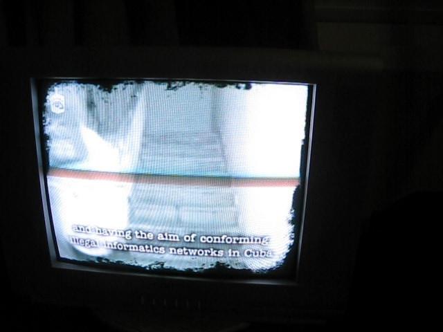 Varadero - anti-American propaganda on the tv