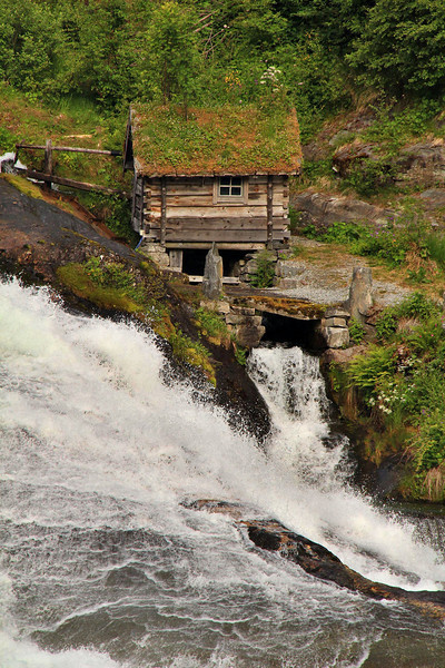 Mill House at Helleslyt Falls, Norway.