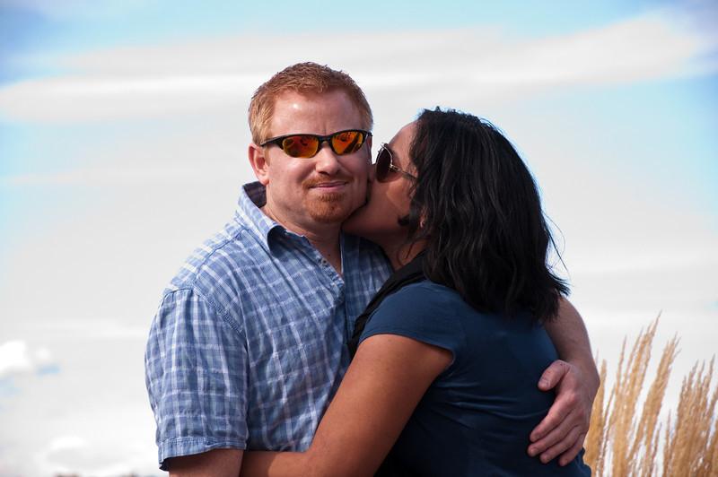 2012.10 - Chad's birthday: wine tasting in Prosser, WA. Kiss.