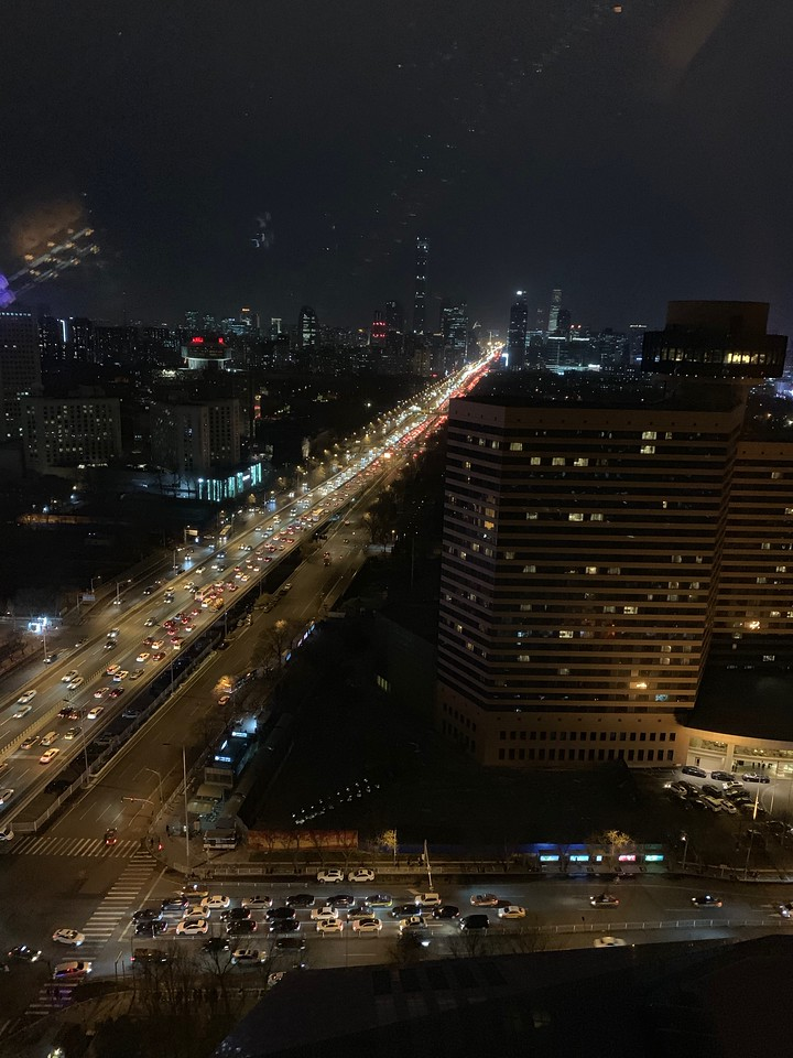 Night view from my room at Westin Beijing Chaoyang