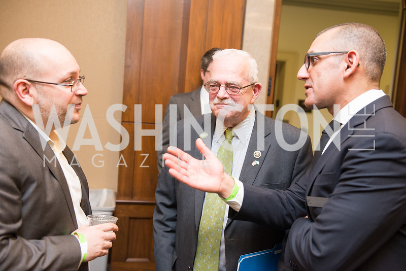 Jason Rezaian, Rep. Gerald Connolly, Morad Ghorban, Capitol Hill Nowruz Reception, hosted by PAAIA, March 19, 2018, photo by Ben Droz.