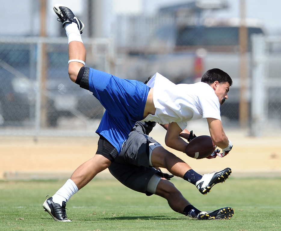 . Marshall vs. San Gabriel during the San Gabriel Valley Shootout football passing league at Arroyo High School Saturday, July 13, 2013 in El Monte, Calif.   (Keith Birmingham/Pasadena Star-News)