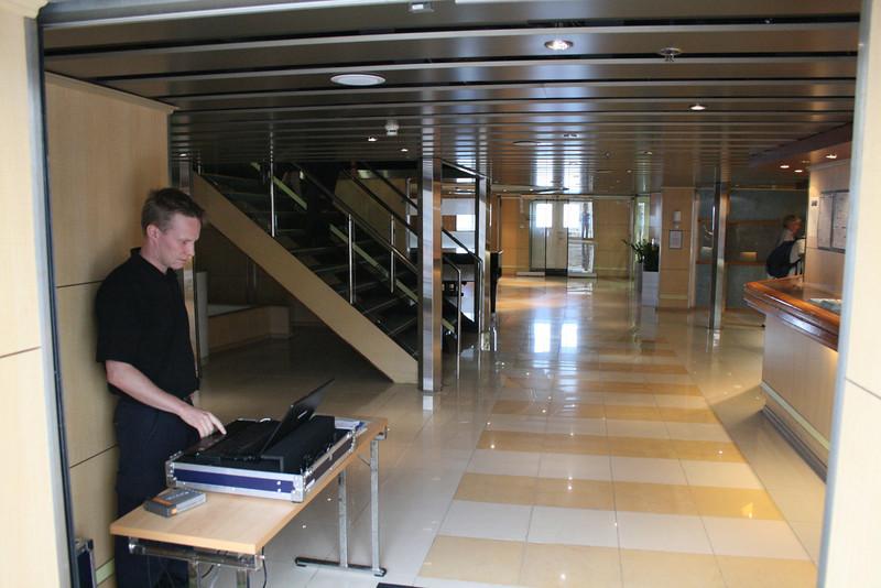 2010 - On board M/S KRISTINA KATARINA : security check.