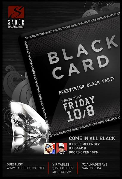Black Card @ Sabor Tapas Bar & Lounge 10.8.10