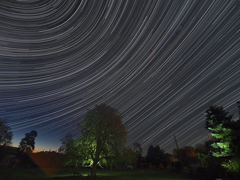 April star trail
