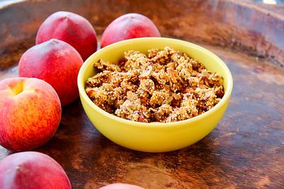 Peach Quinoa Flax Seed Granola