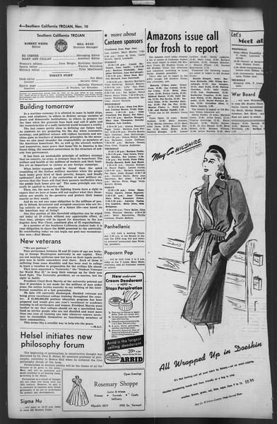 The Trojan, Vol. 35, No. 48, November 10, 1943