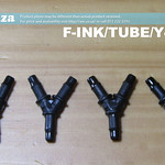 SKU: F-INK/TUBE/Y4/UV, 4 Pieces of Φ4 to Φ4 Solvent/UV Resistant Y Connector for Ink Tubing (Black)