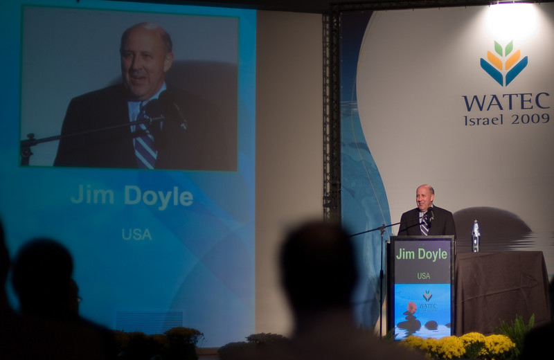 Governor Jim Doyle addresses the WATEC Convention in Tel Aviv.