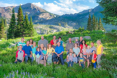 Adair Elton Family sitting Albion Basin