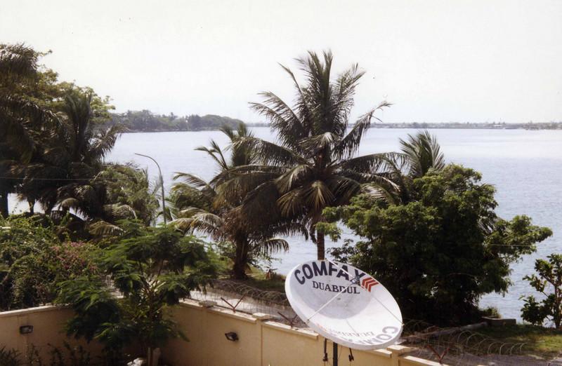 View from the Statoil headquarters, Lagos. --- Utsikt fra Statoils hovedkvarter, Lagos.  (Foto: Geir)