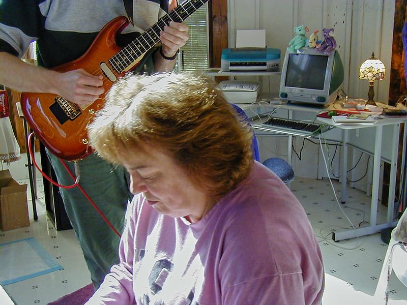 FL and Shirley Lebin, jamming at the Lebin house, Oct 29 2000.