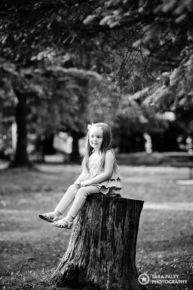 Alivia wearing Limeapple in Central Park, Burnaby