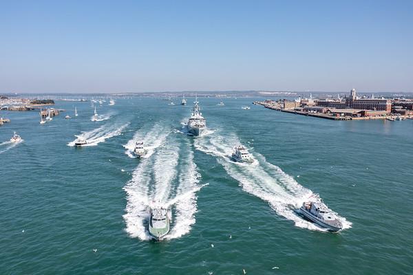 HMS Tamar & HMS Spey Deploy
