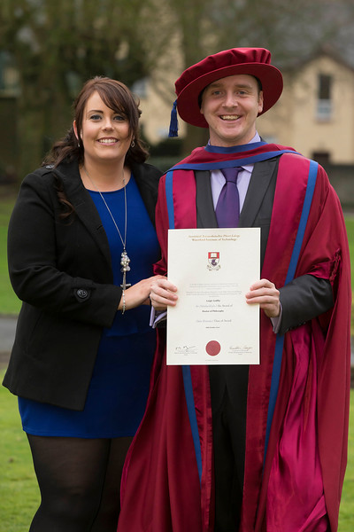 Pictured is Leigh Griffin, Waterford who was conferred a Doctor of Philosophy, also pictured is Ashling Keane. Picture: Patrick Browne.
