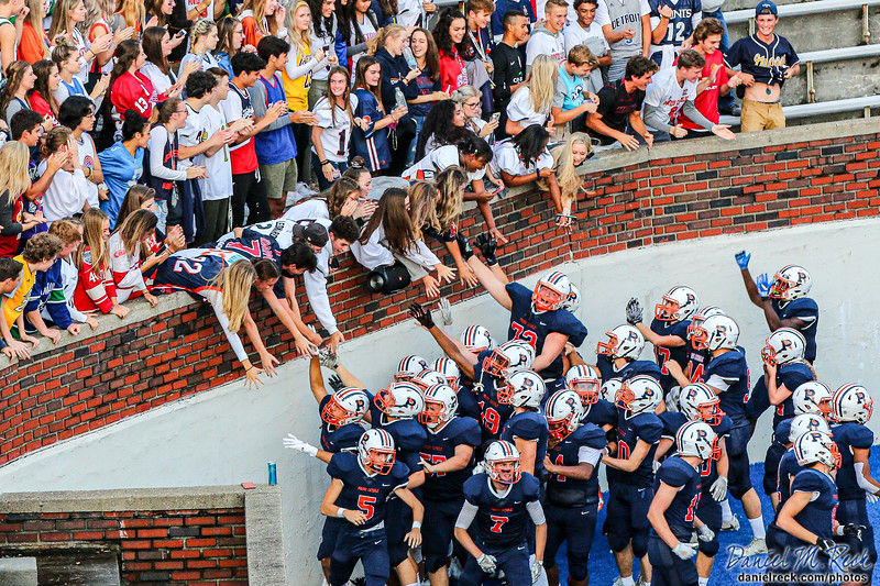 The Powers Catholic High School  Chargers Football team hosts Kalamazoo at Atwood Stadium on the campus of Kettering University in Flint, Michigan, on September 13, 2019.   Photo by Daniel M. Reck.